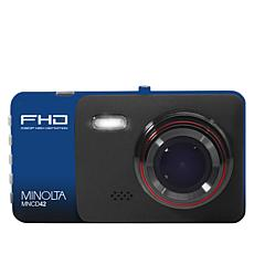 """Minolta 1080p HD Dash Cam with 4"""" LCD Screen and 16GB SD Card"""