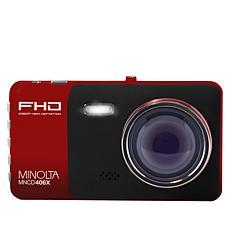 Minolta 2-Lens 1080p HD Dash Camera with 16GB Memory Card