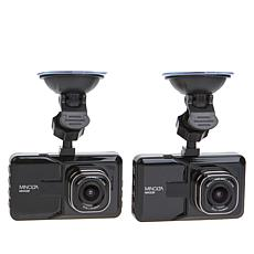 "Minolta MNCD37 1080p FHD 3"" LCD Screen Dash Cam 2-pack"