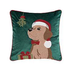 Mistletoe Puppy Pillow