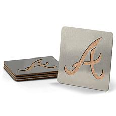 MLB Boasters 4-piece Coaster Set - Atlanta Braves