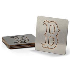 MLB Boasters 4-piece Coaster Set - Boston Red Sox
