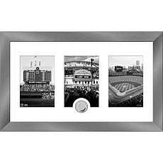 MLB Chicago Cubs Art Deco Silver-Plated Coin Photo Mint