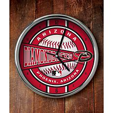 MLB Chrome Clock - Arizona Diamondbacks