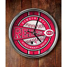 MLB Chrome Clock - Cincinnati Reds