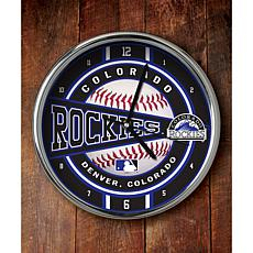 MLB Chrome Clock - Colorado Rockies