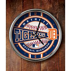 MLB Chrome Clock - Detroit Tigers
