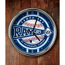 MLB Chrome Clock - Tampa Bay Rays