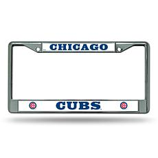 MLB Chrome License Plate Frame - Cubs