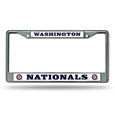MLB Chrome License Plate Frame - Nationals