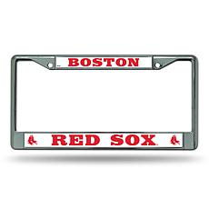 MLB Chrome License Plate Frame - Red Sox