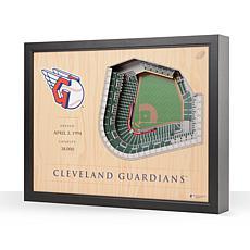 MLB Cleveland Indians StadiumViews 3-D Wall Art - Progressive Field