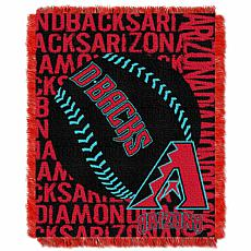 MLB Double Play Woven Throw - Arizona Diamondbacks