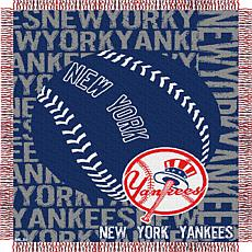 MLB Double Play Woven Throw - New York Yankees