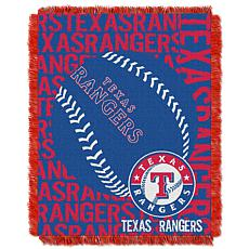 MLB Double Play Woven Throw - Texas Rangers