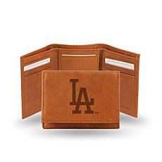 MLB Embossed Trifold Wallet - Dodgers