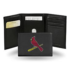 MLB Embroidered Leather Trifold - Cardinals