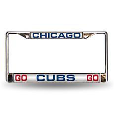 """MLB """"Go Cubs Go"""" Laser-Cut Frame - Cubs"""