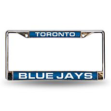 MLB Laser-Cut Chrome License Plate Frame - Blue Jays