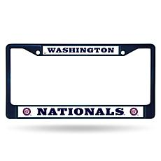 MLB Navy Chrome License Plate Frame - Nationals