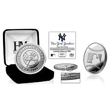 MLB New York Yankees Silver-Plated Coin