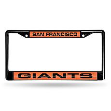 MLB Orange Insert Laser-Cut License Plate Frame-Giants