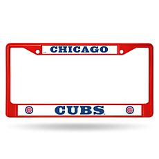 MLB Red Chrome License Plate Frame - Cubs