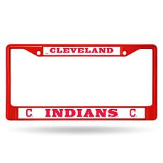 MLB Red Chrome License Plate Frame - Indians