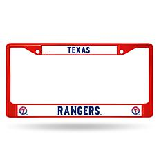 MLB Red Chrome License Plate Frame - Rangers