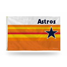 MLB Retro Rainbow Banner Flag - Astros