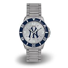 "MLB Sparo ""Key"" Team Logo Stainless Steel Bracelet Watch - Yankees"
