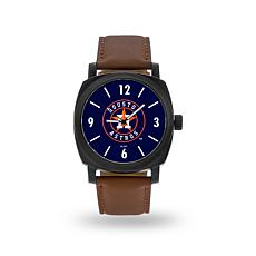 "MLB Sparo ""Knight"" Faux Leather Watch - Astros"