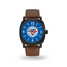 "MLB Sparo ""Knight"" Faux Leather Watch - Blue Jays"