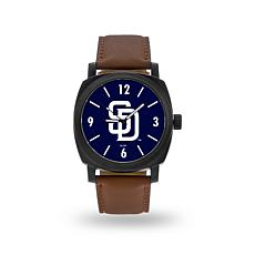 "MLB Sparo ""Knight"" Faux Leather Watch - Padres"