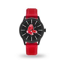 """MLB Sparo Team Logo """"Cheer"""" Strap Watch - Red"""