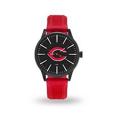 """MLB Sparo Team Logo """"Cheer"""" Strap Watch - Reds"""
