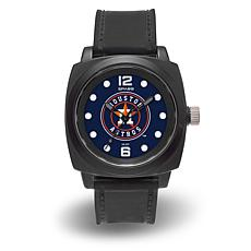 "MLB Sparo Team Logo ""Prompt"" Black Strap Sports Watch - Astros"