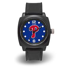 "MLB Sparo Team Logo ""Prompt"" Black Strap Sports Watch - Phillies"