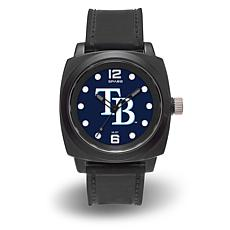 "MLB Sparo Team Logo ""Prompt"" Black Strap Sports Watch - Rays"