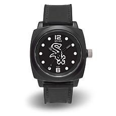 "MLB Sparo Team Logo ""Prompt"" Black Strap Sports Watch - White Sox"