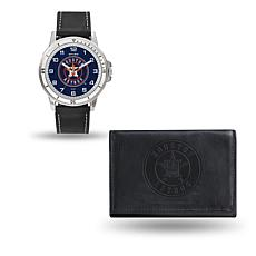 MLB Team Logo Watch & Wallet Set in Black - Astros