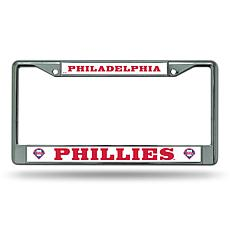 MLB Wordmark Chrome License Plate Frame - Phillies