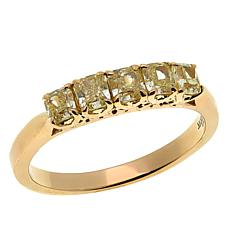 Modani Jewels 14K Gold 1ctw Yellow Diamond Cushion 5-Stone Ring
