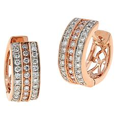 Modani Jewels 14K Gold .50ctw Colored and White Diamond Hoop Earrings