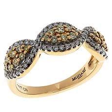 Modani Jewels 14K Gold .50ctw Colored and White Diamond Band Ring