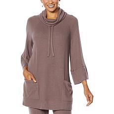 ModernSoul® Brushed Soft Soft Touch Hacci Cowl-Neck Poncho