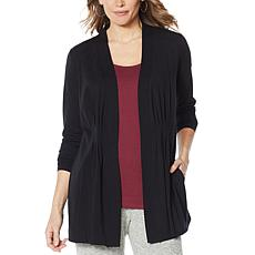 ModernSoul® Pleated Open-Front Cardigan