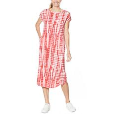 ModernSoul® Ruched-Sleeve Midi Dress