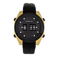 Morphic M76 Series Men's Drum Roll Movement Silicone Strap Watch