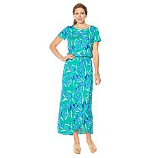 Motto Courageous Cotton Tulip-Hem Maxi Dress